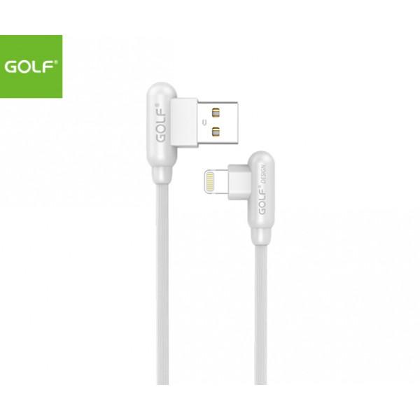 GOLF 1meter Apple_Lightning (90degree) Cable - White