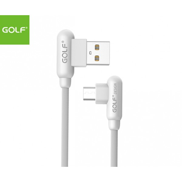 GOLF 1meter MicroUSB (90degree) Cable - White